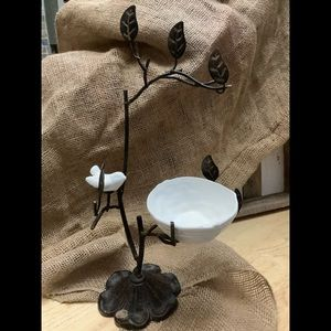 Vintage Cast Iron Bird Jewelry Tree